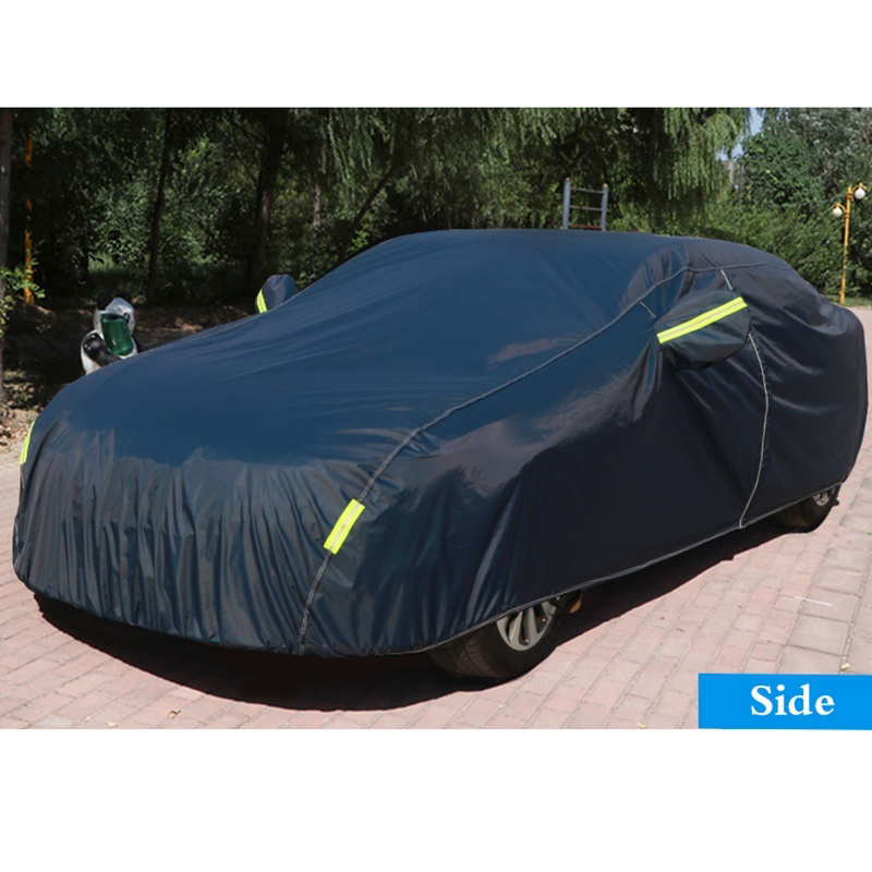 Universal Dark Blue Auto Car Outdoor Protector Cover Full Car Covers Snow Ice Dust Sun UV Shade Cover Auto Exterior Accessories
