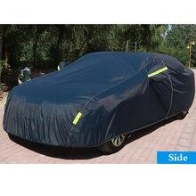 Универсальный Темно-Синий Автомобильный наружный защитный чехол для автомобиля, полностью покрывает Снежный лед, пыль, защита от солнца, УФ-защита, автомобильные внешние аксессуары