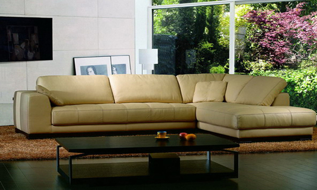 Corner sofa in leather Modern Sofa Set, 2013 new Design American Style L Shaped Genuine Leather corner sofas Set L9058-2