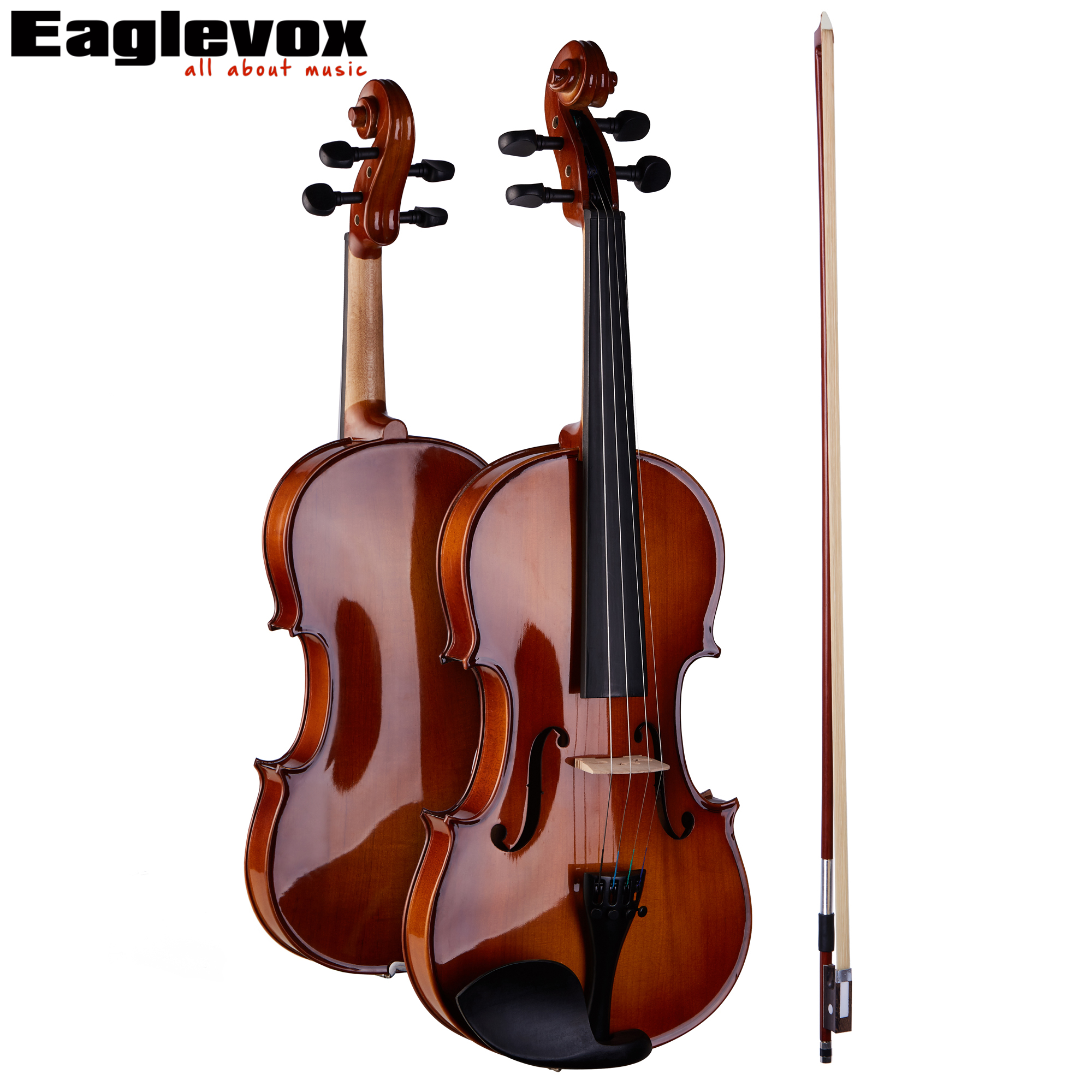 4/4 Full Size Violin Pinus Bungeana Top Maple Back and Sides with Lightweight Hard Case Bow and Rosin handmade new solid maple wood brown acoustic violin violino 4 4 electric violin case bow included