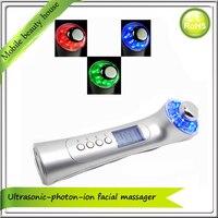 Nhà chuyên nghiệp Sử Dụng Vẻ Đẹp Spa Galvanic Siêu Âm Ion Facial Pore Cleaner Photon Trẻ Hóa Da Beauty Massager Máy