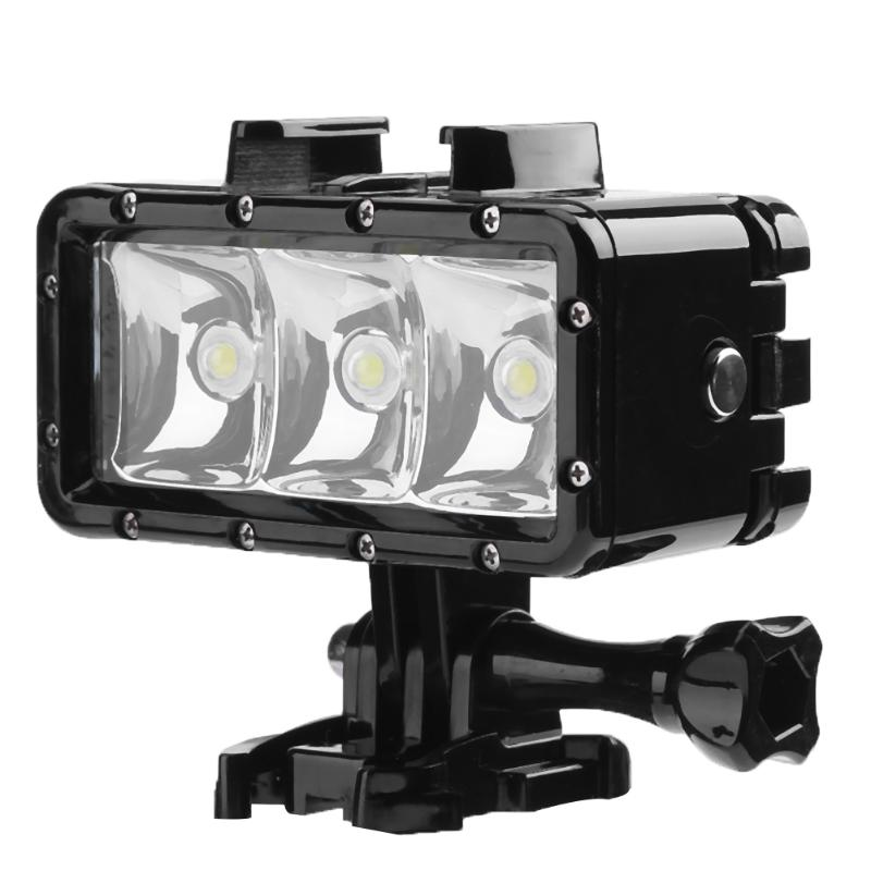 2.8W 3 LED 30M Waterproof Diving Light Underwater Diving Lamp Video DSRL Light for GoPro ...