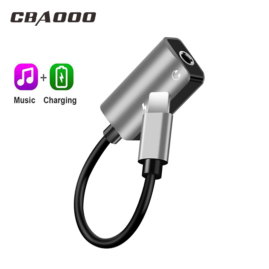 CBAOOO Mobile Phone Adapter For IPhone Type C To 3.5mm Jack Earphone Charging Listening Converter USB Type-C Audio Adapter