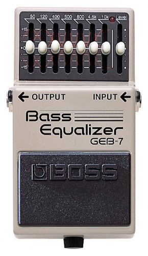 Boss Audio GEB-7 7-Band Bass EQ Effects Pedal, 7-Band Bass Equalizer with Level Control Knob with Free Bonus Pedal Case
