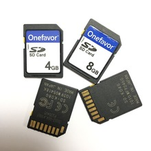 Hot!!! 4GB 8GB SD SDHC Card Onefavor Secure Digital Standard SD Flash Memory Card genuine adata sdhc memory card blue 8gb class 4