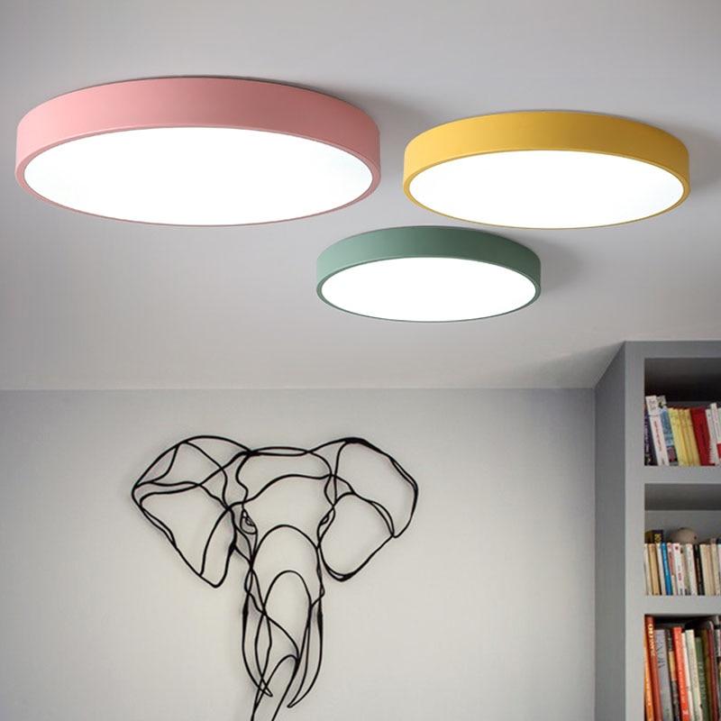 99 Off 2017 New Modern Led Ceiling Light Swimming Led: Macaron LED Ceiling Lights Acryl High Brightness Chip High