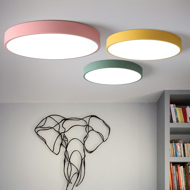 Macaron Led Ceiling Lights Acryl High Brightness Chip Lumens Flush Mount Lamp Modern Minimalist Nordic Personality