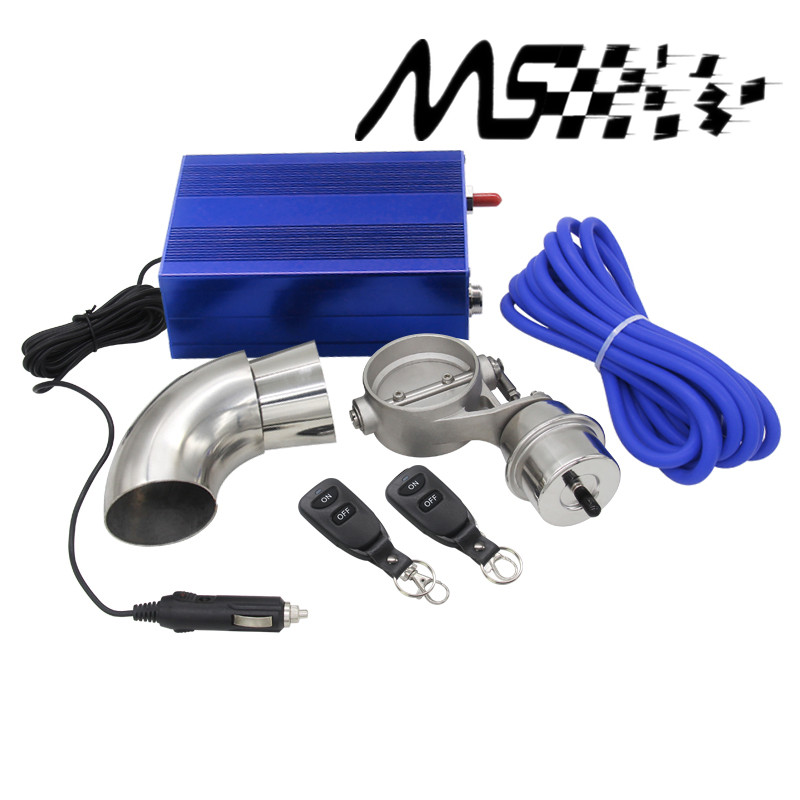2.5 63mm Vaccum Control Exhaust Valve/Cutout Set with Vacuum Pump With Wireless Remote Controller Switch