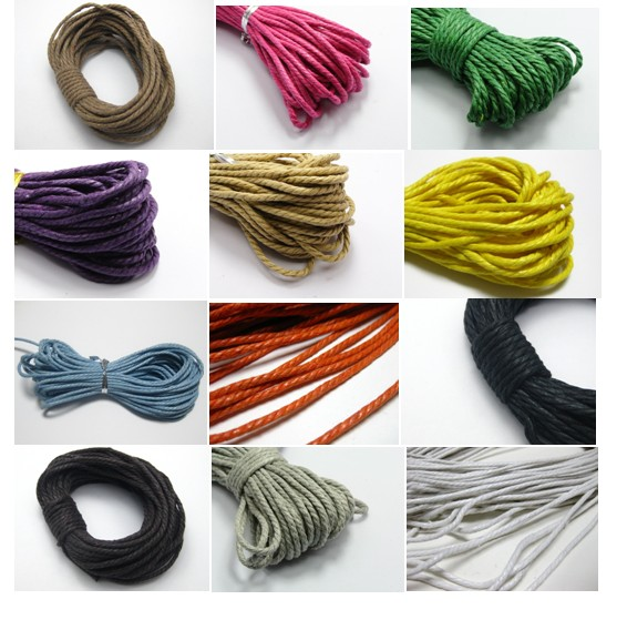 60 Meters Twisted Waxed Cotton Cord String Thread Line 2mm