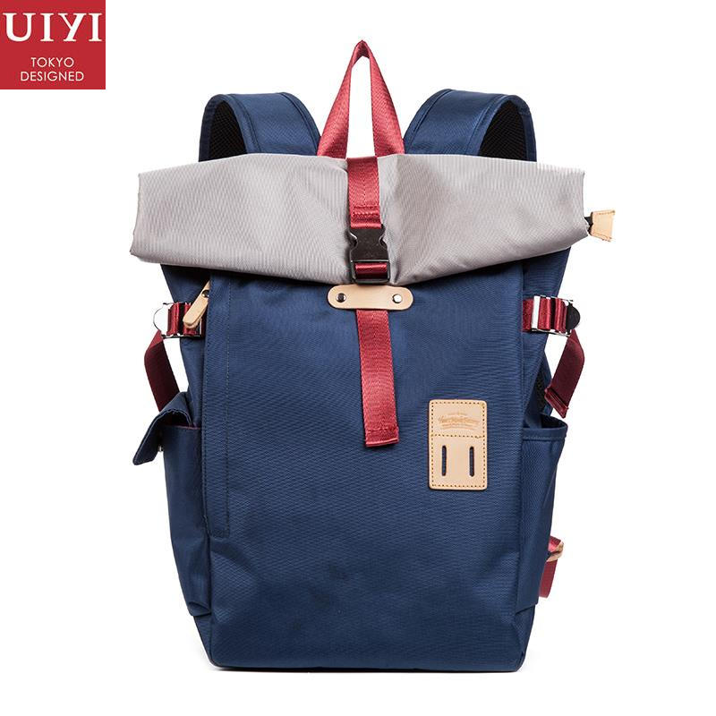 UIYI Fashion Men Women 420D Oxford Solid Cover Travel Backpack Laptop Waterproof School Rucksack Satchel College Mochila 150087 500g sqm waterproof oxford cloth 420d thick pvc fabric waterproof material