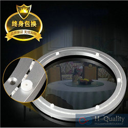 1PC/LOT OD 600MM(24INCH) Luxury Voice Erasure Strap+Thicken Aluminium Swivel Lazy Susan Rotary Base Dining Table Turntable