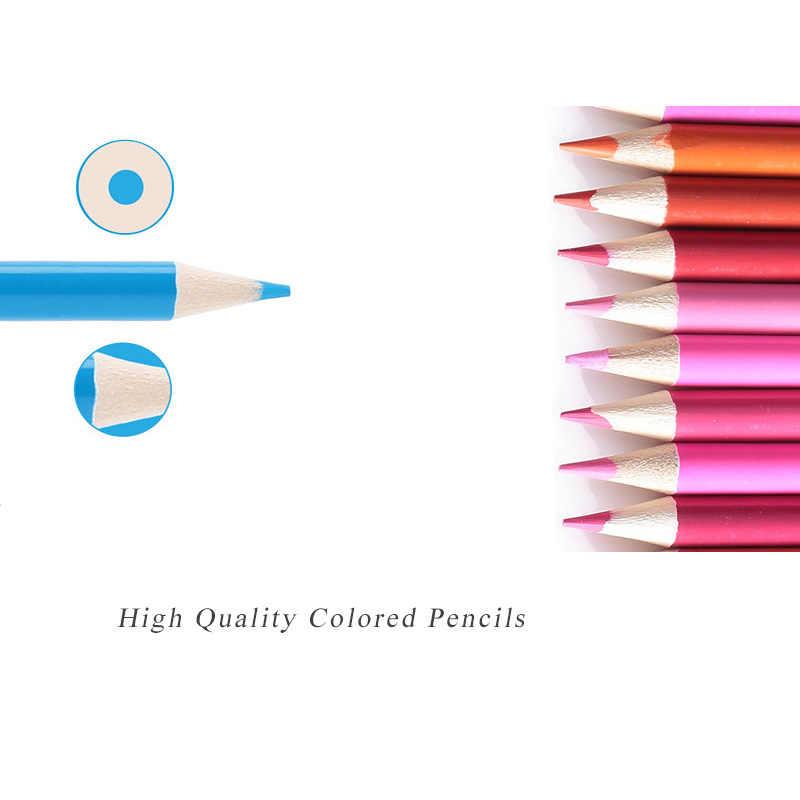 Ccfoud 160 ألوان الخشب أقلام ملونة اللازورد دي كور النفط رسم قلم رصاص للمدرسة المهنية قلم رصاص ملون رسم الفن لوازم