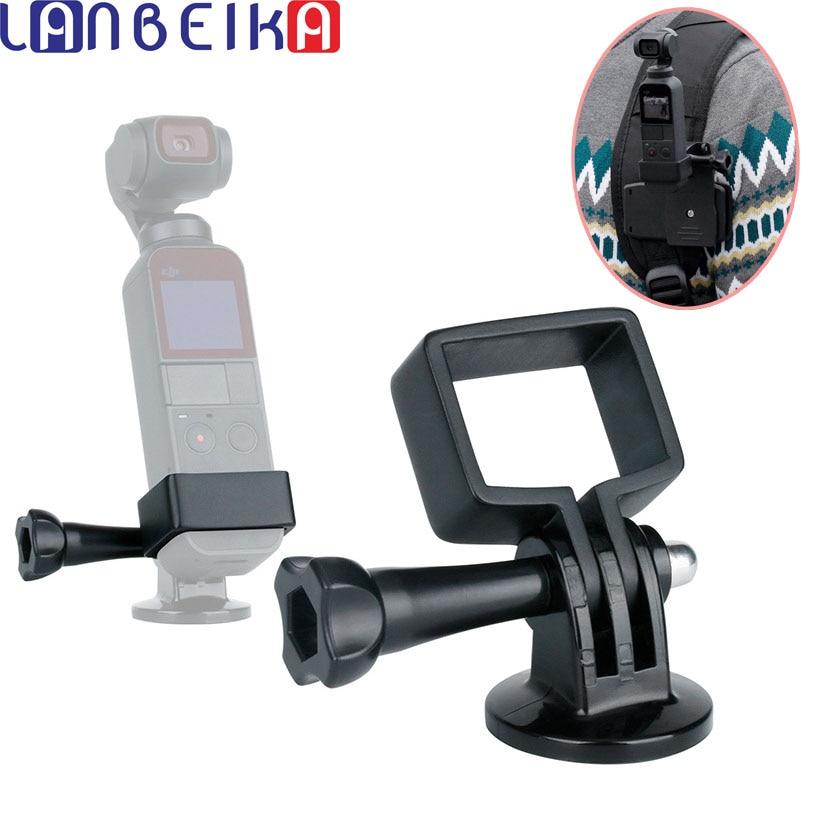 LANBEIKA Osmo Pocket Holder Mount Fixed Stand Clamp Bracket Adapter w Mini Tripod with GoPro Adapter for DJI OSMO POCKET Gimbal pocket tripod pro