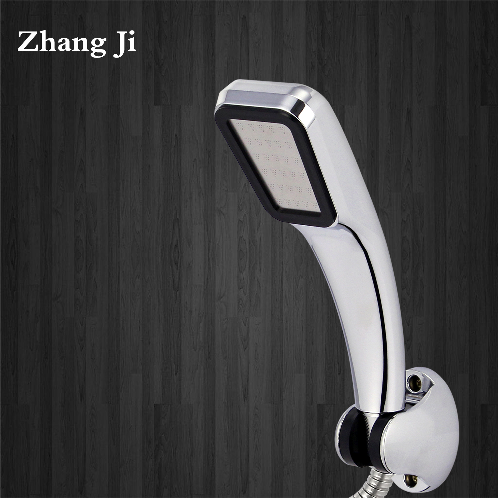 ZhangJi Hot Sale 300 Hole Shower Head Water Saving Flow With Chrome ABS Rain High Pressure Nozzle +1 pc big bath ball sponge