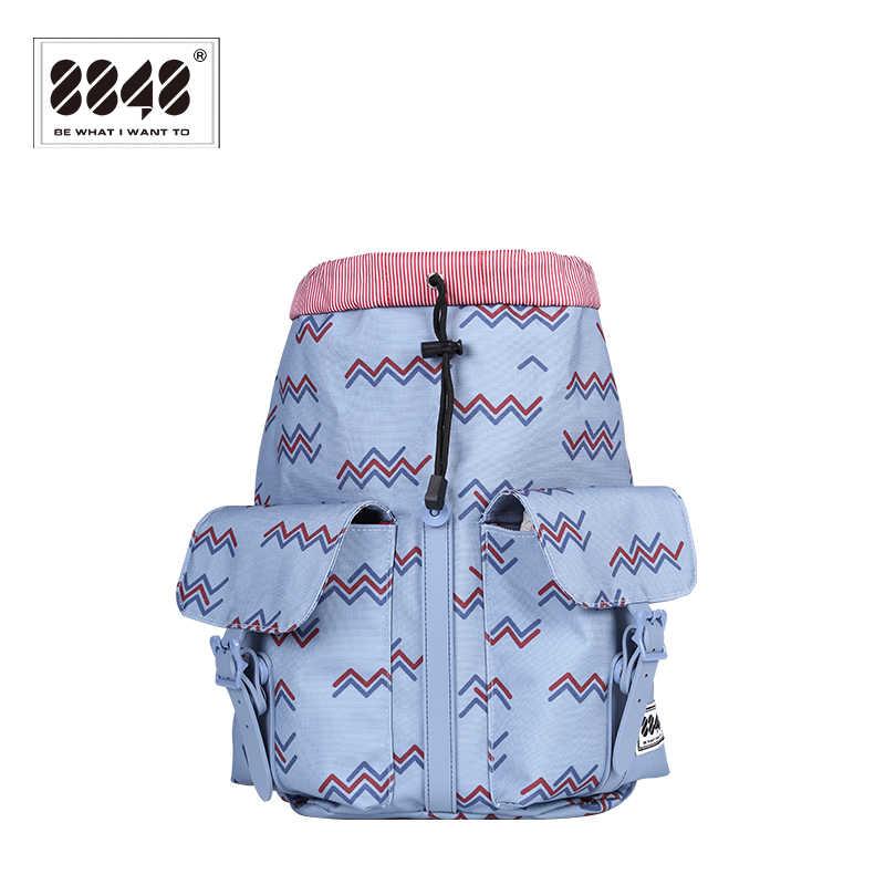 8848 Ransel Fashion Gadis Mahasiswa Ransel Ransel Kasual Jenis Poliester Tahan Air Tali Bahu 083-021- 010