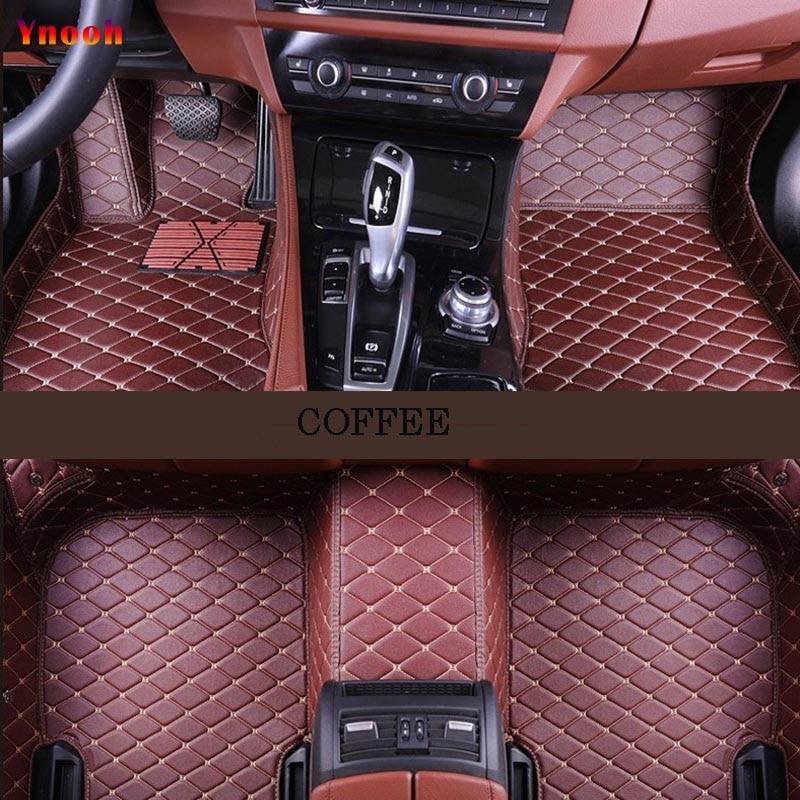 Ynooh tapis de sol de voiture Pour audi a5 sportback audi a3 sportback a3 2005 2006 2007 2009 avant b8 a6 8l 4f 100 c4 tapis de voiture - 4
