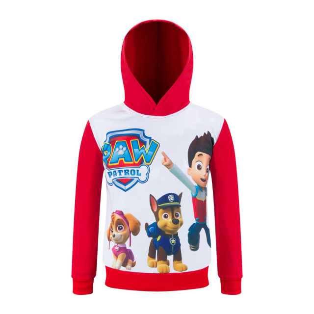 New 3 4 6 8 10Y Character Print Boys Hoody Jackets Full Sleeve Cotton Ployester Autumn Pullover Girls Sweatshirt AH-1602-8