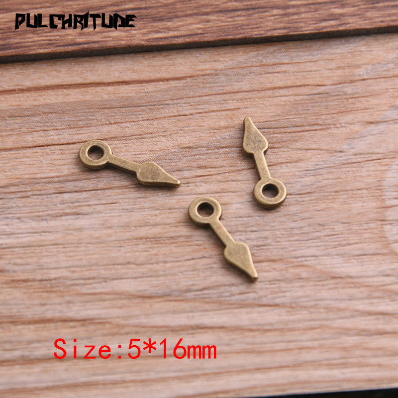 60PCS 5*16mm Two Color Vintage Metal Zinc Alloy Steampunk Pointer Charms Fit Jewelry Pendant Charms Makings 4