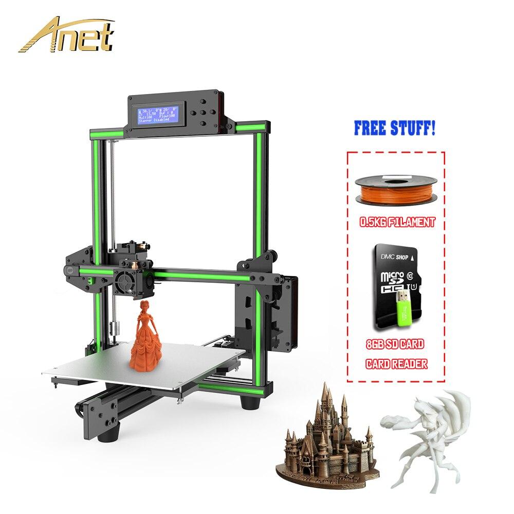 Kit d'imprimante 3D 2019 Anet E2 FDM montage facile imprimante 3D cadre en alliage d'aluminium bricolage Delta Impresora 3d avec Filament PLA 10 m