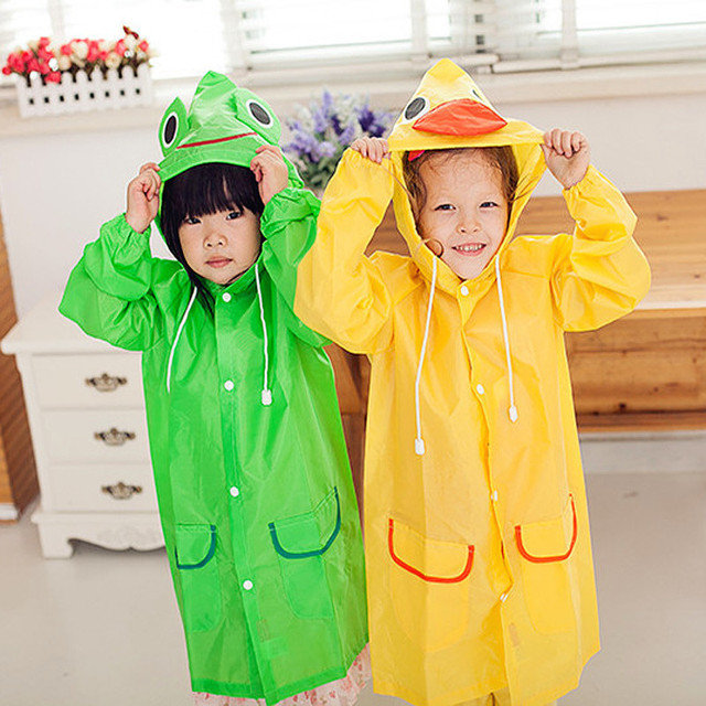 VILEAD Children Raincoat Thickened Animal Cartoon Baby Rain Poncho Kids Rain Coat Boy Girl Rain Gear Waterproof Cute Rain Suit