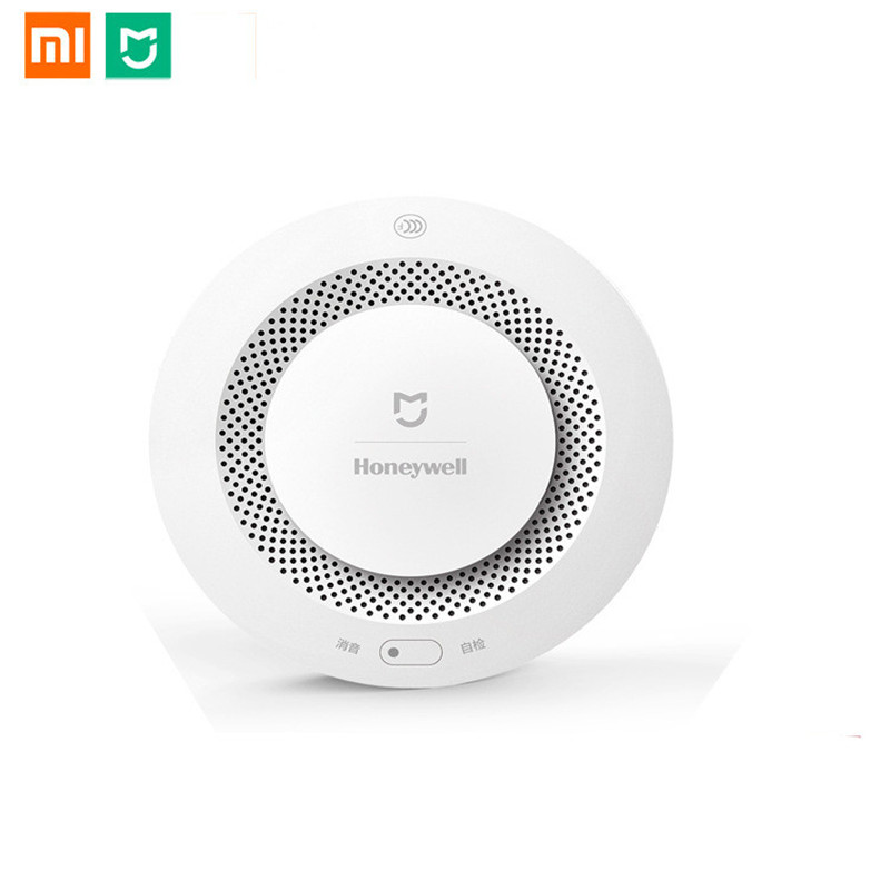 US $25 55 29% OFF|Xiaomi Mijia Home Alarm Honeywell Fire Alarm Detector  Remote Control Audible Visual Alarm Notification Work With Mi Home APP -in
