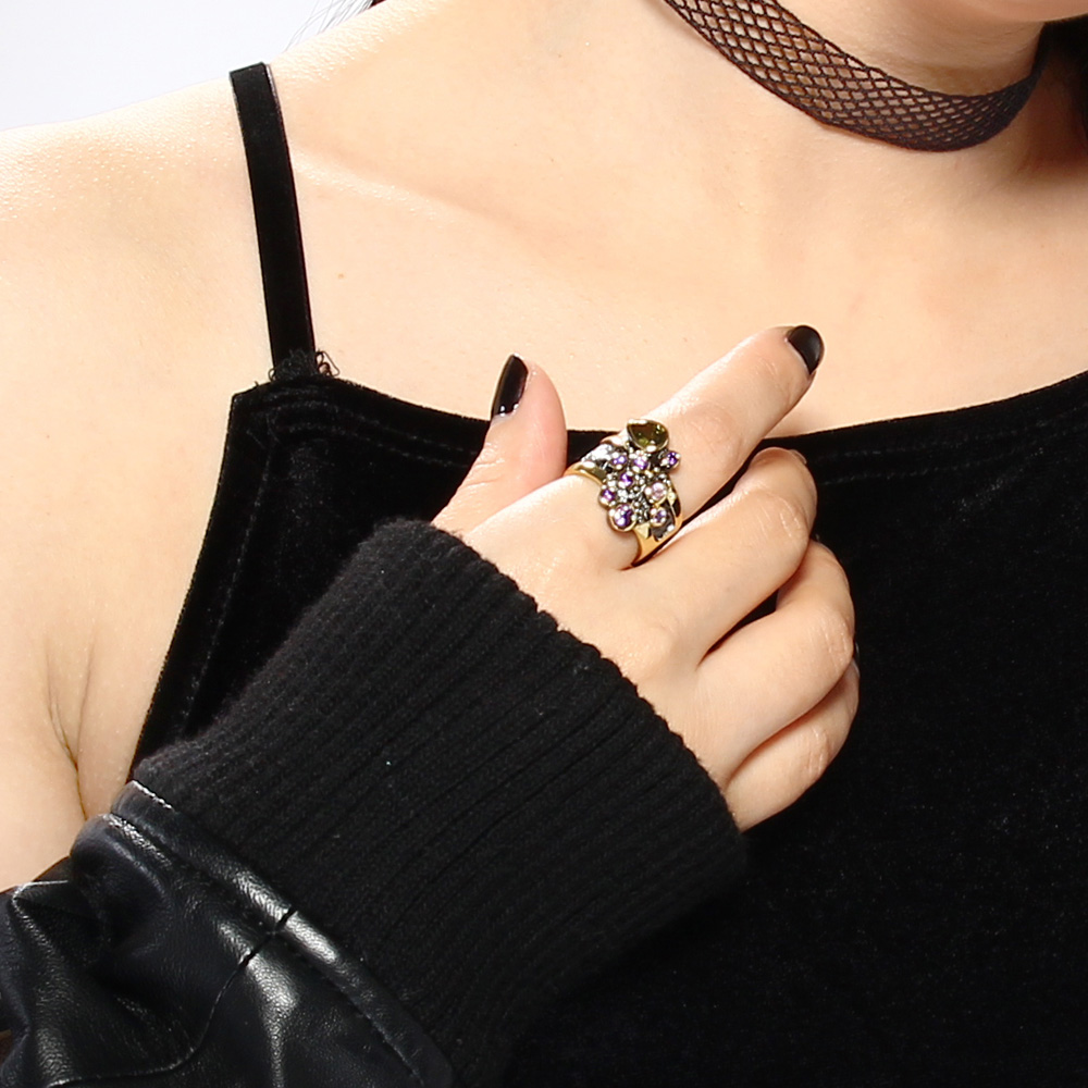 DreamCarnival Vintage Women Ring Multi Shape Farverige CZ Bryllup - Mode smykker - Foto 3