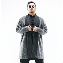2017 зима 2XL-6XL Плюс размер мужчины Китайский стиль шерстяные пальто длинный толстые теплые шерстяное пальто для сильных мужчин в холодную погоду w1536