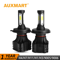 Auxmart H4 LED Headlight 50w Set High Low Beam Car Light Bulb H4 HB2 9003 CSP