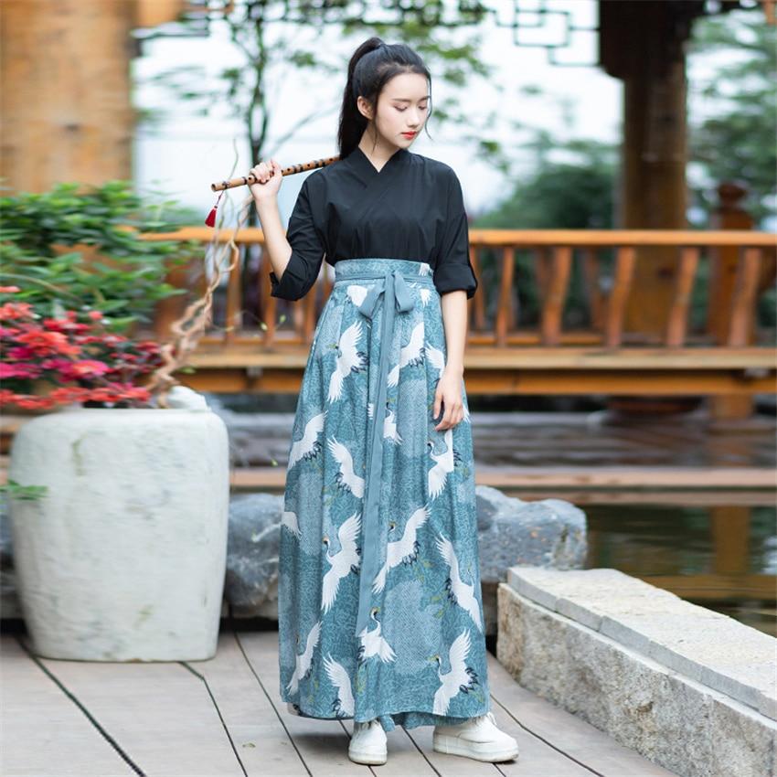 Kimono Dress Women Haori Japanese Style Kawaii Girls Crane Sakura Yukata Vintage Party Japan Dance Costume Samurai Cosplay