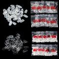 600 unids Francés Arte Falso Del Clavo Completo Redondo de Acrílico UV Gel de Uñas Consejos Dibujo Short Round Head Fake ABS Uñas transparente