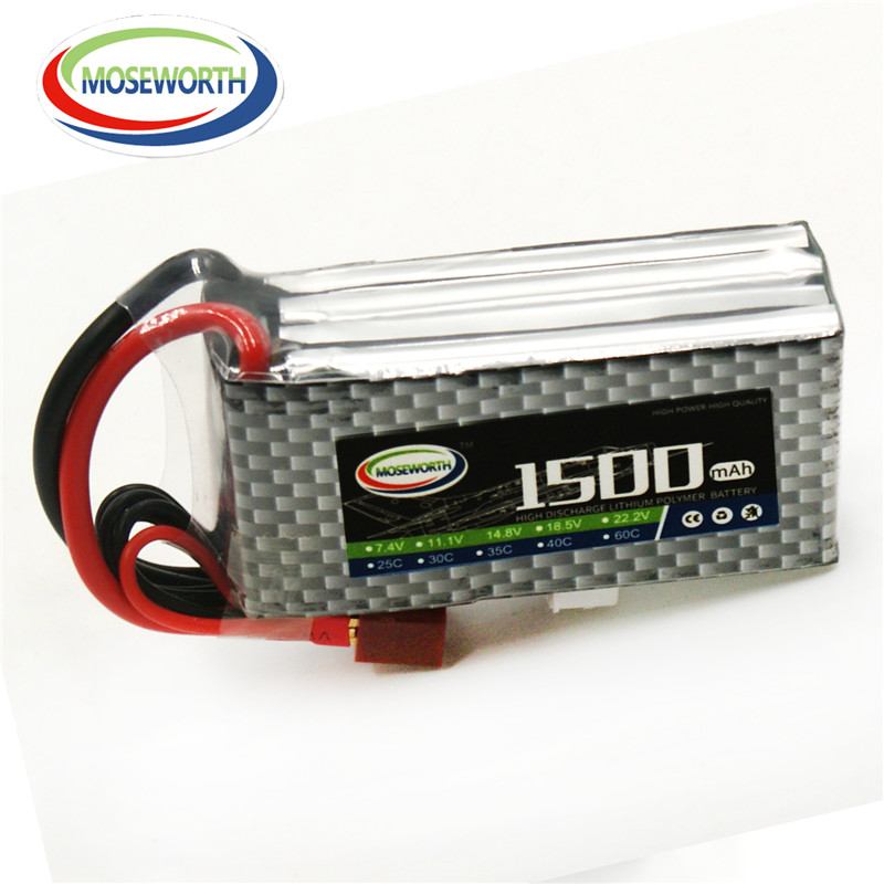 MOSEWORTH 4S RC lipo battery 14.8v 1500mAh 40C For rc helicopter rc car rc boat quadcopter Li-Polymer batteria 1s 2s 3s 4s 5s 6s 7s 8s lipo battery balance connector for rc model battery esc