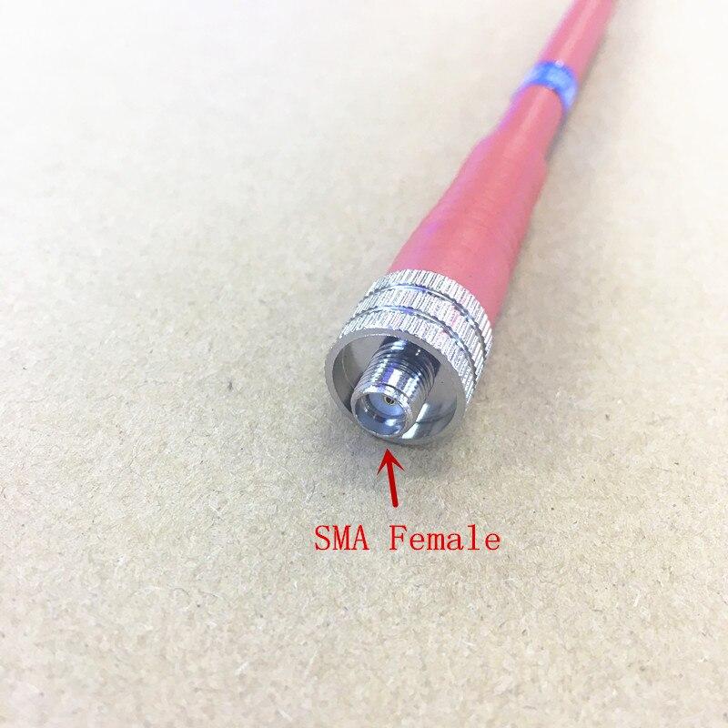 KINNOTA красный цвет с высоким коэффициентом усиления антенны UHF 400-470mhz SMA Feamle для KENWOOD, BAOFENG, PUXING Weierwei и т. Д. Рации