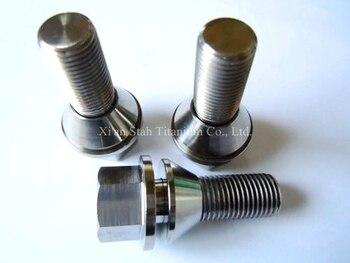 Titanium TC4 GR5 Wheel Rim Lug Hex Bolts 14 x 1. 5 32mm Rolled Thread Lock Washer Design High Strength > 900MPa for Volvo Car