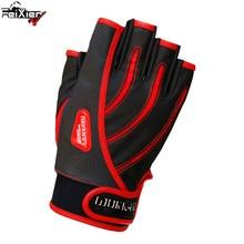 SHUNMIER Wk-011 Half Finger Men Pu Waterproof Durable Anti-Slip Anti-Cut Four Seasons Sport Fishing Gloves Insulated Pesca