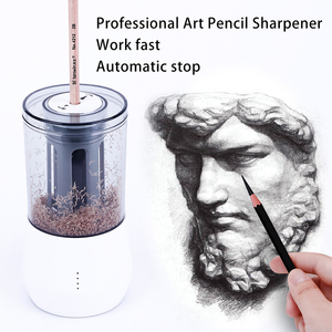 Image 3 - Tenwin Mechanical Electric Pencil Sharpener Usb Charging Double Hole Pen Sharpeners For Kids Stationery School Supplies