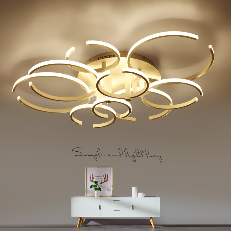 Circel Rings Surface mounted modern led ceiling chandelier lights for living study room bedroom led chandelier lamp fixtures black or white rectangle living room bedroom modern led ceiling lights white color square rings study room ceiling lamp fixtures