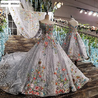 High Quality Beading Lace Colorful Flowers Quinceanera Dresses 2019 Vestidos De 15 Anos Vestidos With Long Train