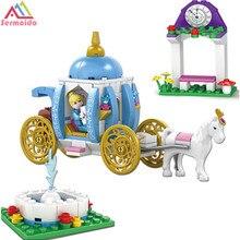 sermoido Friends For Girl Building Blocks Princess Cinderella Pumpkin Carriage 37002 Set Toy Compatible With Lepining с слонимский с слонимский песни на стихи алексея кольцова для тенора и фортепиано