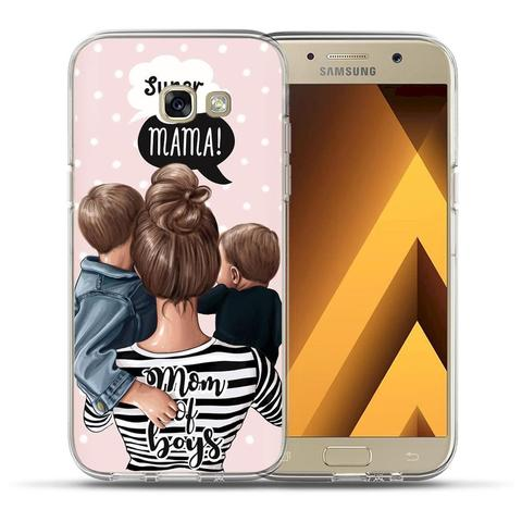 Baby Mom Girl Bumper Print Case For Samsung Galaxy A50 A30 A70 A40 A10 A20 A60 A70 A6 A8 Plus A7 A9 2018 Soft TPU Silicone Cover Islamabad