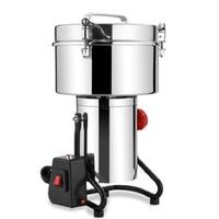 JamieLin 110 V 220 V Качели Коммерческих Электрический зерна Mill/3000G мельница для кукурузы/упаковочная машина для чая из зерен муки Измельчитель перц