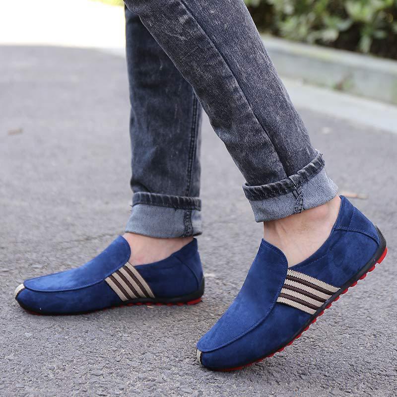 Chaussures Masculino Ventilation blue Hommes Toile Rouge 2018 Male Mocassins Fond Conduite Marche De Homme Sapato Slip Black Mocassin Casual Plates FqCxxwzIA5