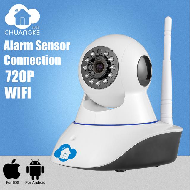 Chuangkesafe 720 P Red CCTV WIFI cámara IP Megapixel HD ip cámara de Visión Nocturna sistema de alarma de Seguridad Inalámbrica Digital