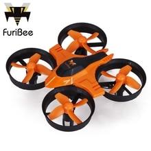 FuriBee F36 Мини 4CH 6 Оси Гироскопа RC Мультикоптер Drone 2.4 ГГц с безголовый режим переключатель скорости rc дроны подарок kid toys против jjrc h36