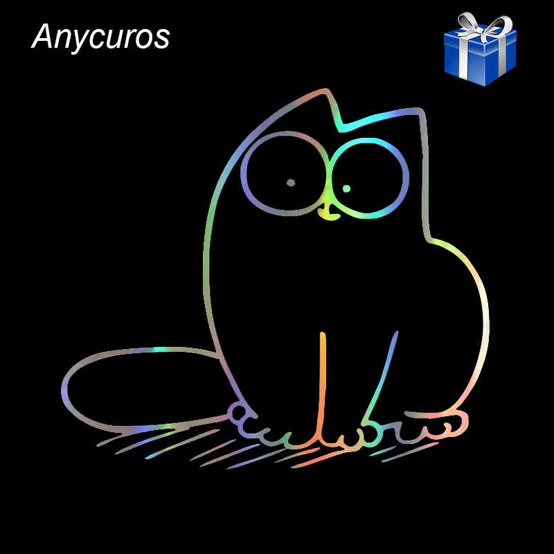 Anycuros Lovely Simon Cat Car Styling Decorative Decals Motorcycle Car Window Glass Funny Stickers 20.8*18.6CM