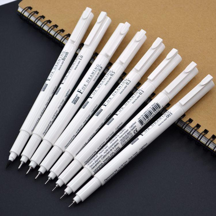 Marvy 4600 waterproof stylus pen needle stylus cartoons hook line pen lower calligraphy brush фломастер marvy с блестками 1 2мм синий mar812 g3