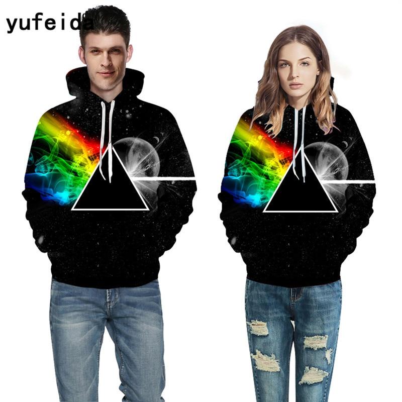 YUFEIDA Men Women Hoodies 3D Print Sweatshirts with Hat Pullover Autumn Winter Tracksuits Harajuku Outwear Casual Jacket