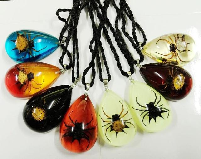 Free shipping 8pcs new real spiny spider mix cool chic lucite insect free shipping 8pcs new real spiny spider mix cool chic lucite insect pendant taxidermy gift aloadofball Choice Image