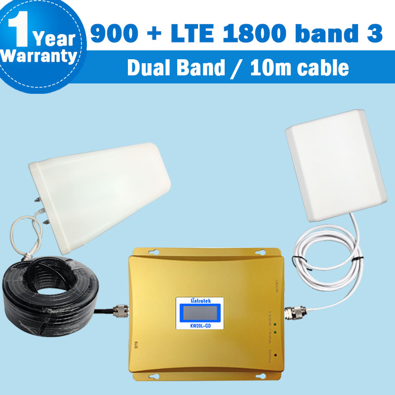 Band 3 4g repeater Booster 2G GSM 900 4G LTE 1800 Dual Band Signal Repeater Mobile Phone Antenna display Amplifier Repetidor S31