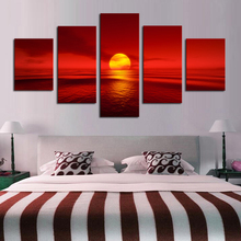 5pcs DIY Diamond Painting Sea sunset Full Square Embroidery Mosaic Picture Of Rhinestone H338