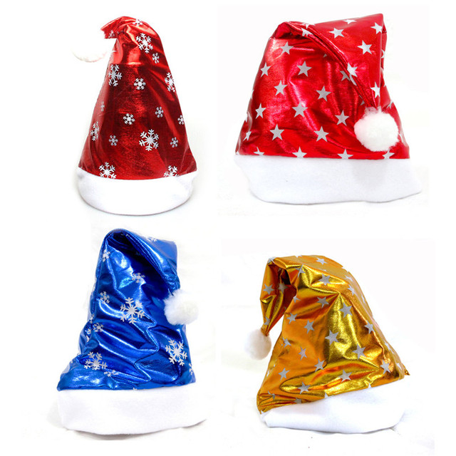 Bright Christmas Hat Adult Child Cute Santa Claus Caps Xmas Holiday Party Decoratives Supplies Candy Colors